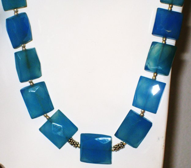 NK030       Chalcedony Necklace in Sterling Silver