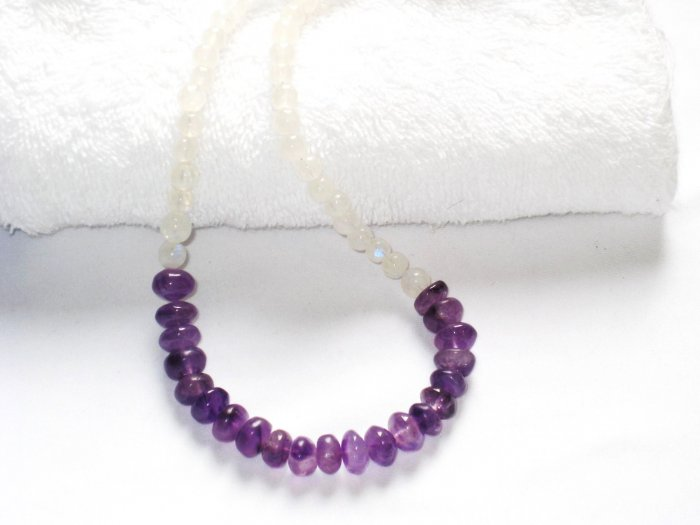 ST044       Amethyst and Moonstone Necklace