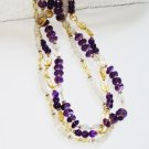 ST369       Amethyst, Citrine and Moonstone   Necklace in Sterling Silver