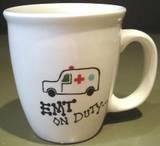 Personalized Coffee Mug 12Oz. EMT on DUTY