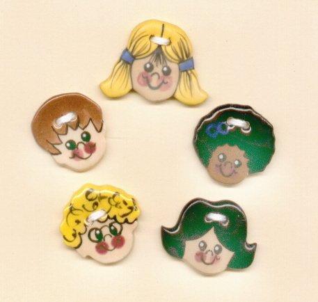 Handmade Ceramic Button Covers-  CHILDREN