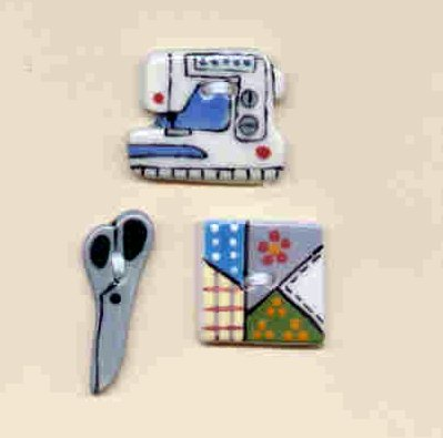 Handmade Ceramic Buttons- SEWING SERIES