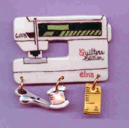 Decorative Sewing Machine Pin- Elna 6003