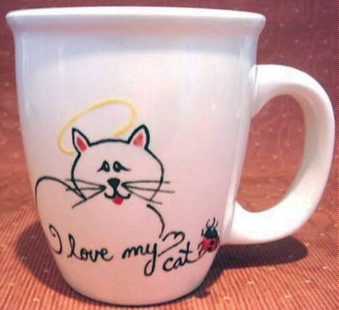Personalized Coffee Mug 12Oz.  I LOVE MY CAT