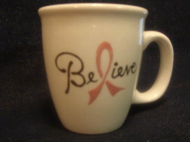 Personalized Coffee Mug 12Oz.   CANCER SURVIVOR  BELIEVE