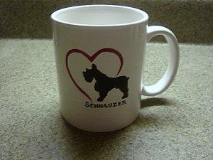 Personalized Coffee Mug 12Oz.  SCHNAUZER DOG