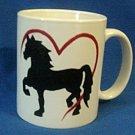 Personalized Coffee Mug 12Oz.  HORSE