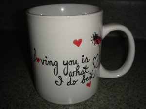 Personalized Mug- Loving you is what I do best.  Valentine