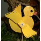 Whirligig  Yellow Puddle Duck  garden, deck, patio