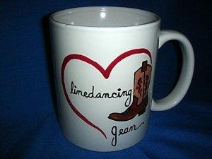 Handpainted Personalized Mug   LINEDANCING