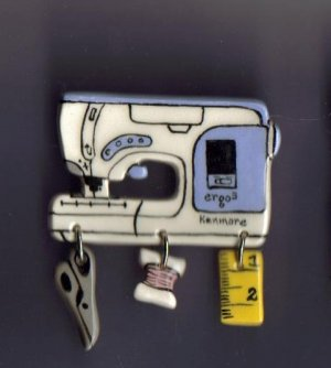 ecorative Ceramic Sewing Machine Pin  KENMORE