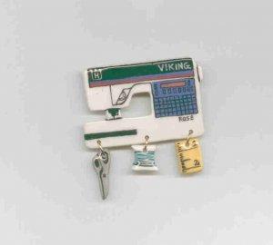 Ceramic Sewing Machine Pin    VIKING ROSE