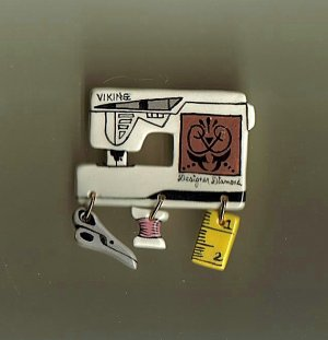 Ceramic Sewing Machine Pin   VIKING DESIGNER DIAMOND