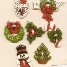 Handcrafted Decorative Ceramic Buttons CHRISTMAS  SERIES