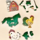 Handcrafted Decorative Ceramic Buttons FARM SERIES