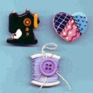 Handcrafted Decorative Ceramic  Button Covers 3 SEWING SERIES