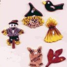 Handcrafted Decorative Ceramic  Buttons HALLOWEEN & FALL