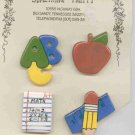 Handcrafted Decorative 4 Ceramic Button Covers TEACHERS SERIES