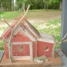 Primitive Old Barn Wood Handcrafted Birdhouse