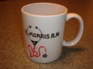Personalized Ceramic Mug  Nurse theme 03