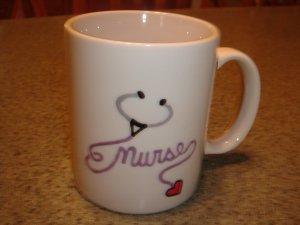 Personalized Ceramic Mug NURSE  Stethoscope