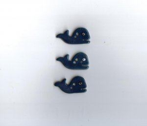 Handcrafted decorative ceramic buttons  Whales