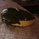 Handpainted Ceramic Casserole Dish  Corn