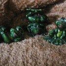 Ceramic Frogs  set of 3