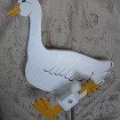 Whirligig  White Yard Duck
