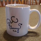 Personalized Ceramic Mug Your name written with a Stethoscope