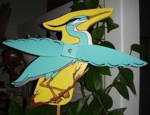 Whirligig  Blue Heron handcrafted handpainted