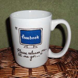 Personalized Ceramic Mug Computer related message  white, 14 ounces