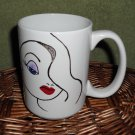 Personalized Ceramic Mug Pretty Lady white, 14 ounces