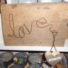 Old Rustic distressed reclaimed wood sign LOVE
