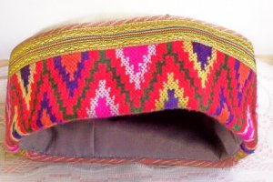 Alpaca Wool Ethnic Hat/Cap ~ vibrant colors!  FREE SHIPPING!