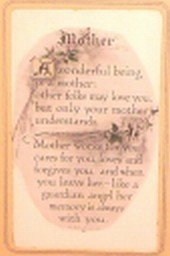 "Mothers Day~Vintage Framed ""Mothers"" Day Poem  FREE SHIPPING!"
