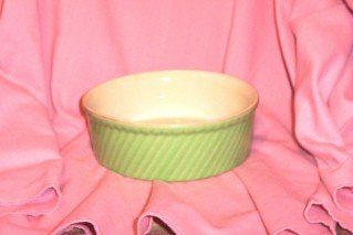 Vintage 30's RARE Green HALL SOUFFLE DISH  FREE SHIPPING!