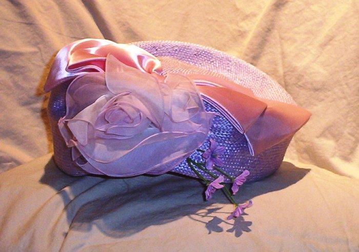 Ladies Miss Bernier Lavender Hat FREE SHIPPING!