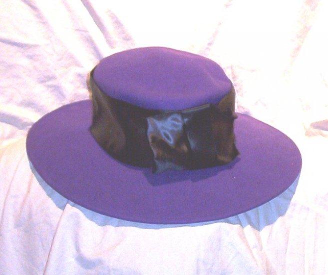 SOLD! Ladies Michael Howard Wide Brimmed Wool Purple Hat FREE SHIPPING!