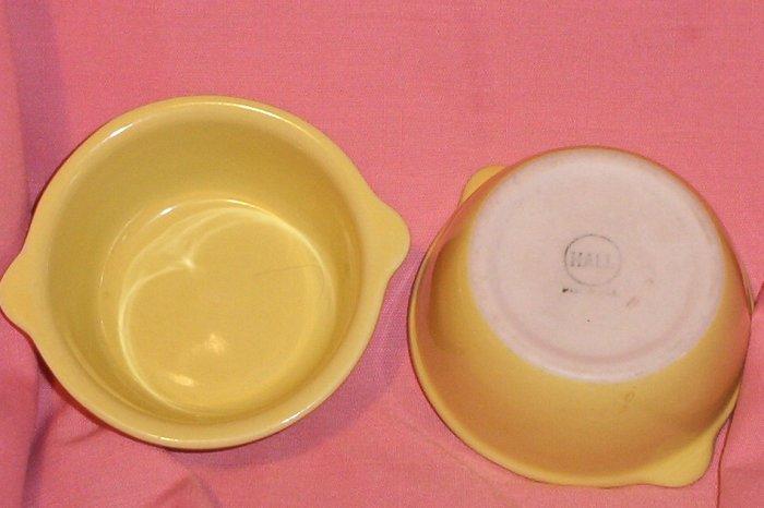 LOT: 2 Vintage Hall Yellow Custard Cups/Ramekin FREE SHIPPING!