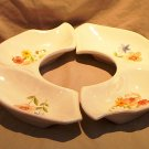 California Original USA White Buffet Dish Floral Pattern FREE SHIPPING!
