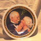 "Norman Rockwell 1976 ""Golden Christmas"" Collector Plate FREE SHIPPING!"