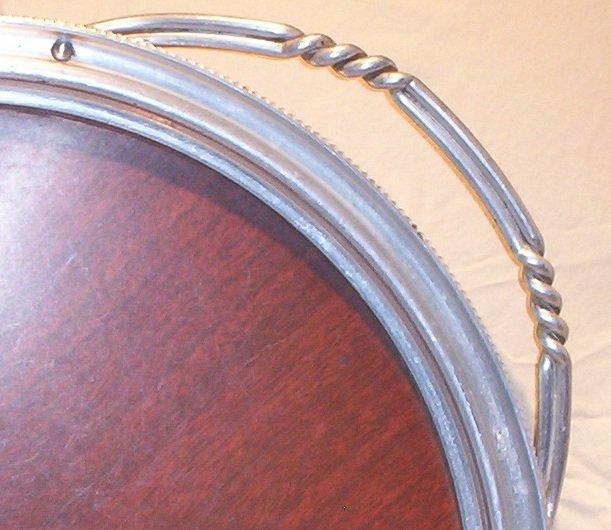 Buenilum Aluminum Catering Tray/Platter- Large- with Wood Veneer FREE SHIPPING!