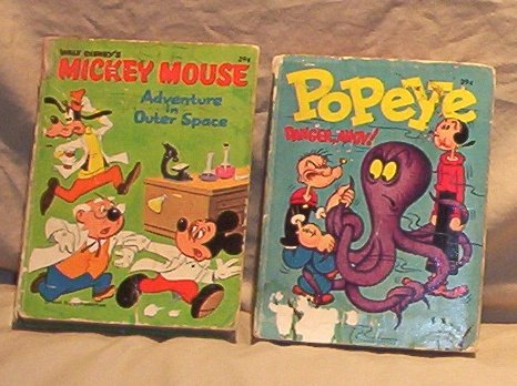 Big Little Book: Popeye Danger Ahoy! 1969 + Mickey Mouse-1968 FREE SHIPPING!