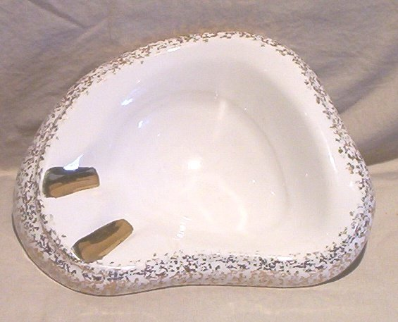 �Atomic Age� Ashtray with 24K Gold Accents FREE SHIPPING!