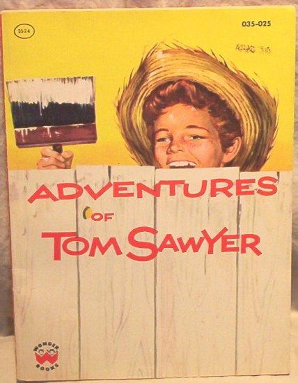 Wonder Books Adventures of Tom Sawyer FREE SHIPPING!