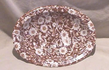 Staffordshire �Calico� Soap Dish - Crownford China Co.FREE SHIPPING!