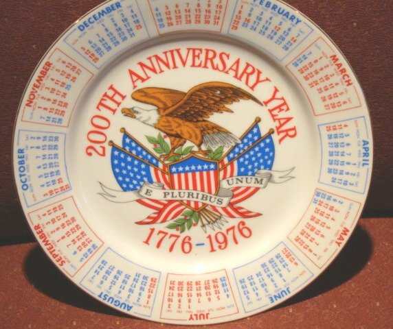 200th USA Anniversary Year Commemorative Plate 1776-1976~ FREE SHIPPING!