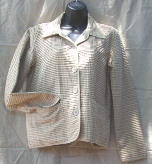 The Territory Ahead Beige Ribbed Cotton Jacket FREE SHIPPING!
