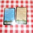 Survivor Game 2000 -  Scoring Card